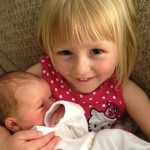 Wyatt Lee Allen, with big sister Zanna