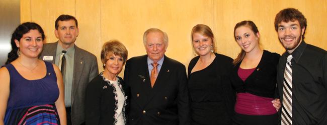 Bob & Joyce Johnson with interns