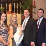 Meghan, Matt, and Brynn Ellington, pictured with Karen and Taylor Adams