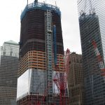 World Trade Center construction with steel from Bill Courtney's company