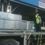 Steel Beam delivery for Building Systems