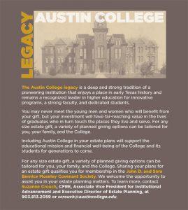 Austin College Legacy