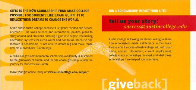 Did a scholarship impact your life?