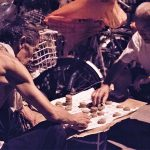 Men playing chess on street in Beijing