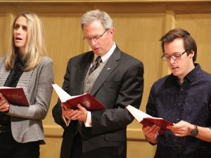 President O'Day was a reader (and joined in the singing) at the annual Service of Lessons and Carols in December.