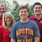 Kennon Magers, son of Bill Magers '85 and Angela Magers MAT '98. At far right is brother Zachary Magers '21.
