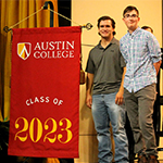 Grant Gilbert and Jacob Meloni at Opening Convocation